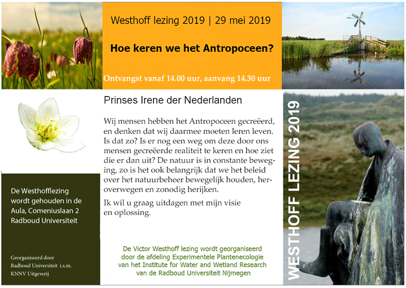 Victor Westhoff lezing 29 mei 2019
