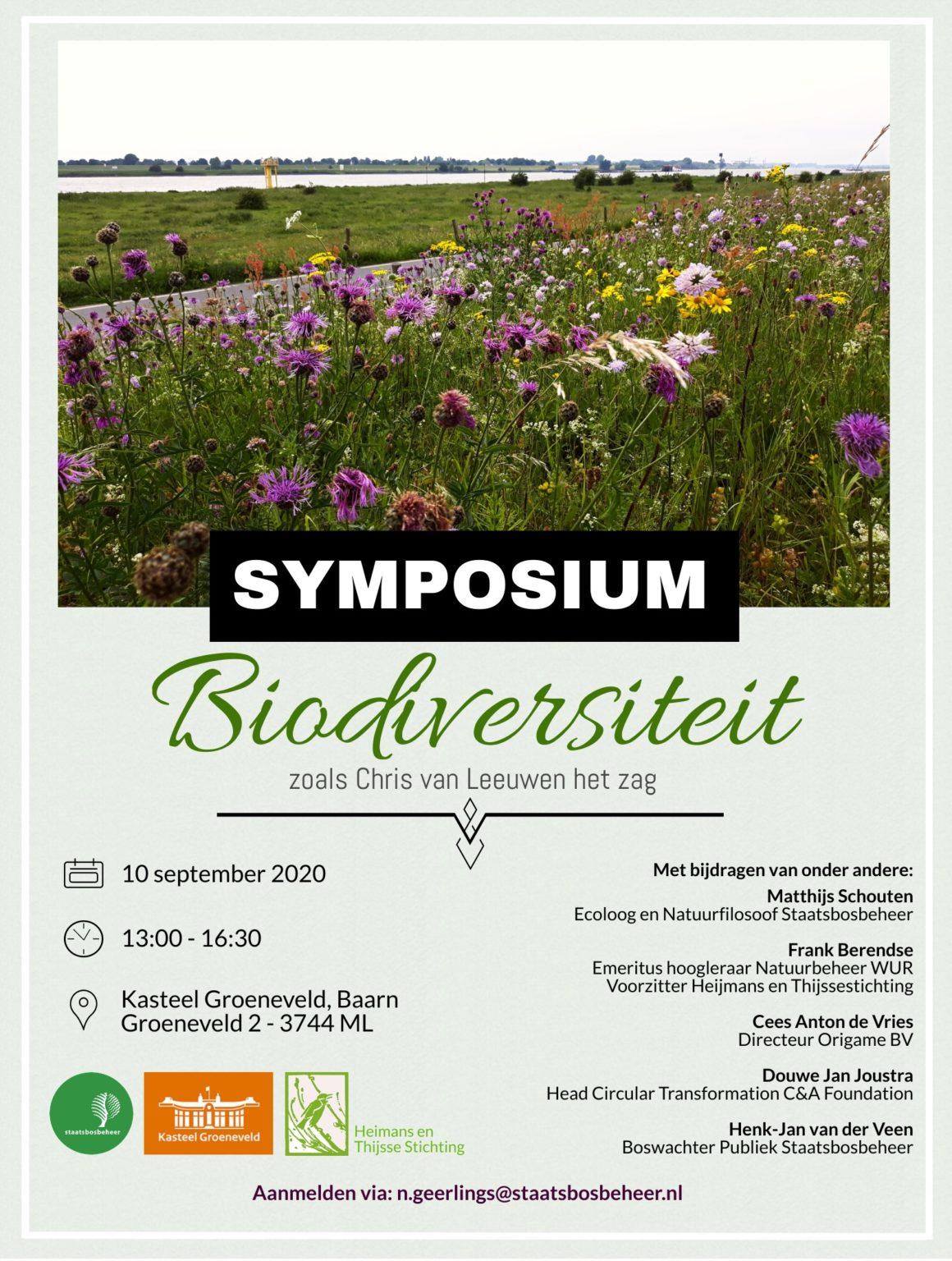 Symposium 'Biodiversiteit zoals Chris van Leeuwen het zag' 10-09-2020