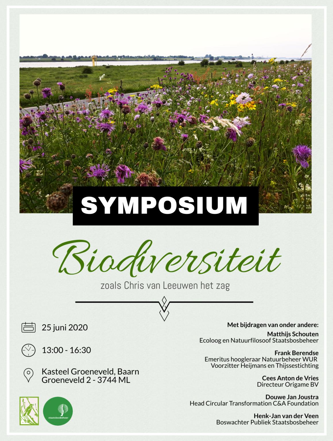 Symposium 'Biodiversiteit zoals Chris van Leeuwen het zag' 25-06-2020